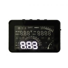 "4 "" W03 Smart Voice HEAD UP DISPLAY with OBD2 Interface KM/h and MPH Speeding Warning"