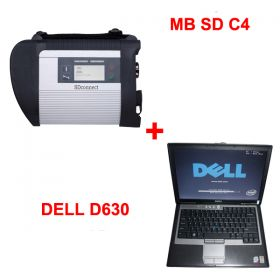 Package Offer MB SDC4 Star Diagnosis with V2017.9 256GB SSD Plus DELL D630 Laptop 4GB Memory