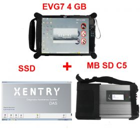 MB SD Connect C5 plus V2017.9 SSD and EVG7 Tablet PC 4GB RAM