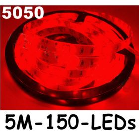 New 5M Red 5050 SMD LED Waterproof Flexible Strip 150 LEDs