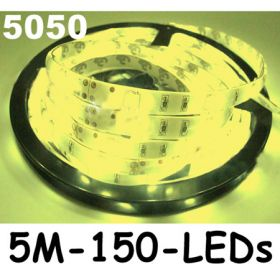 New 5M Yellow 5050 SMD LED Waterproof Flexible Strip 150 LEDs