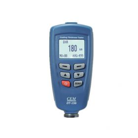 CEM DT-156 Pro Paint Coating Thickness Meter Gauge Auto F/NF Probe Tester 1250um V-groove