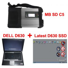 V2017.9 MB SD Connect C5 Star Diagnosis with 256GB SSD Software Plus Dell D630 4GB Laptop